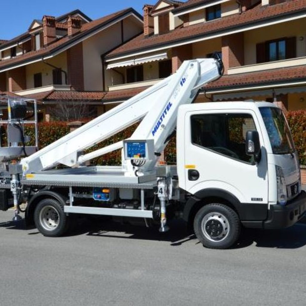 Hoogwerker op bestelwagen Rijbewijs B - Multitel 162
