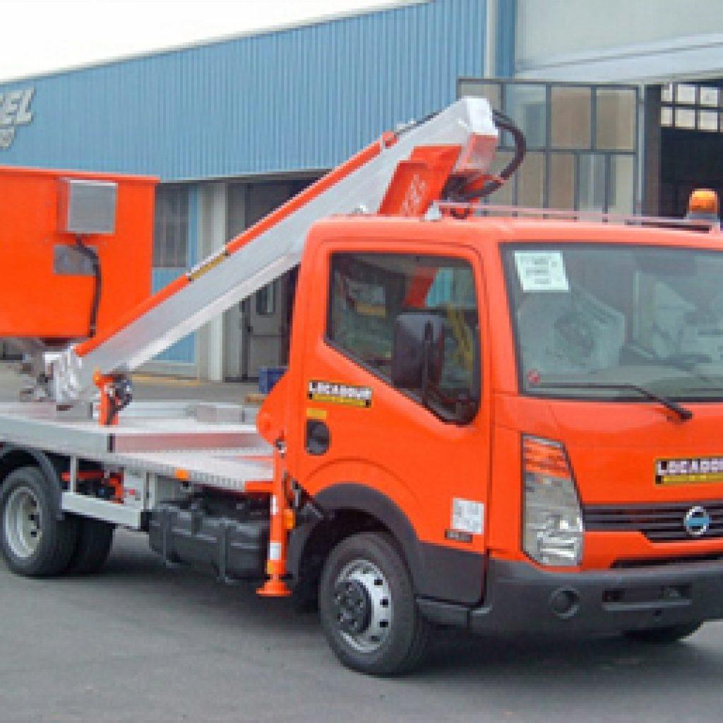 Hoogwerker op bestelwagen Rijbewijs B - Multitel 145 ALU