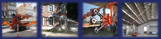 Jekko – Multitel Hoogwerker op bestelwagen rijbewijs B – Jekko Vacuum Lifter – Multitel SMX Spin-knik hoogwerker op rupsen